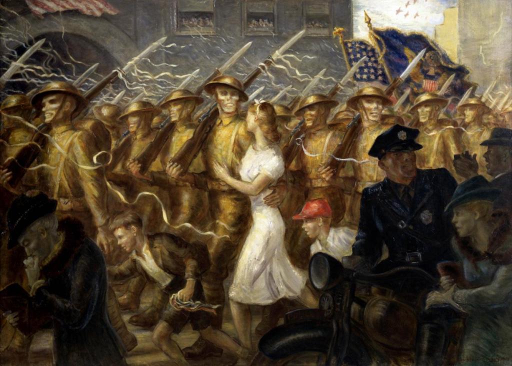 Parade to War, Allegory oleh John Steuart Curry