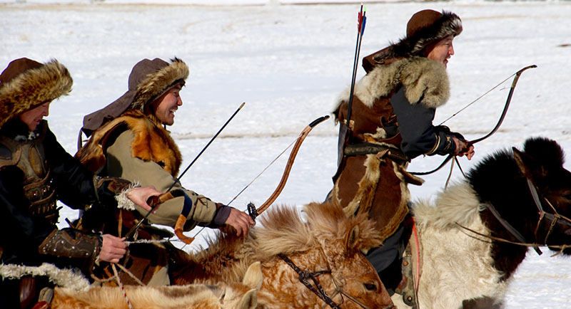 pemanah berkuda Mongolia