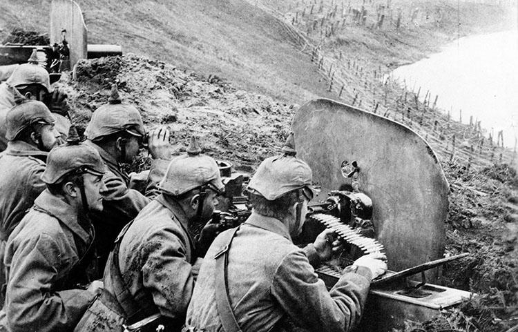 Posisi senapan mesin Jerman